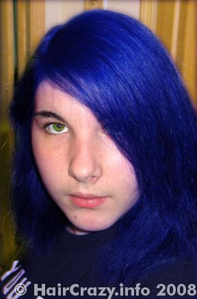 electric blue special effects hair dye haircrazy