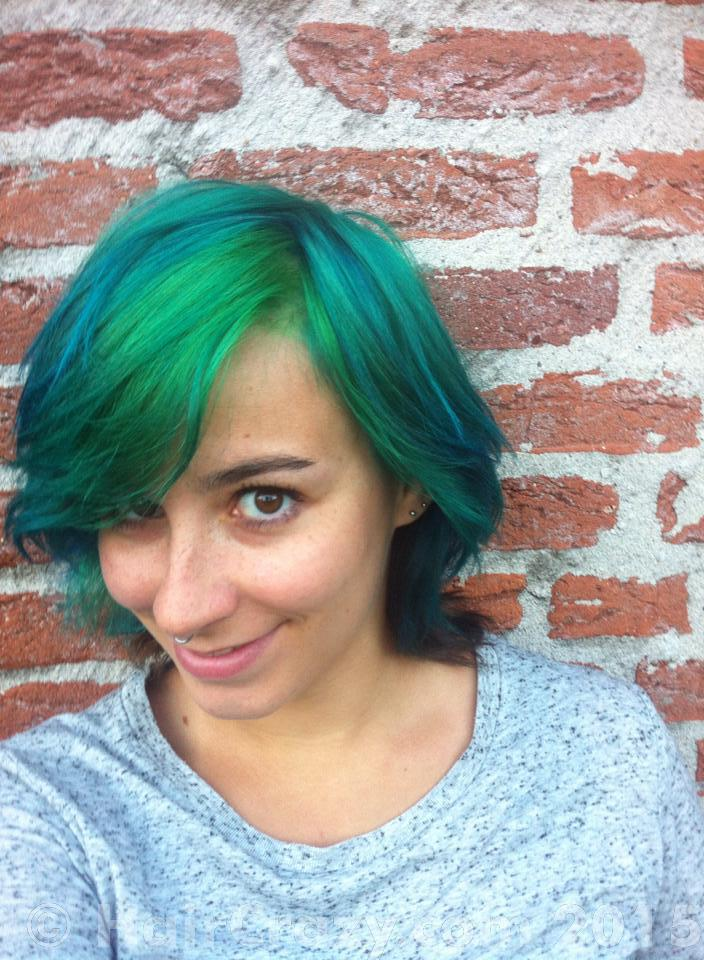 DidiBlidi -   - Crazy Color Emerald Green   - Directions Alpine Green   - Directions Midnight Blue