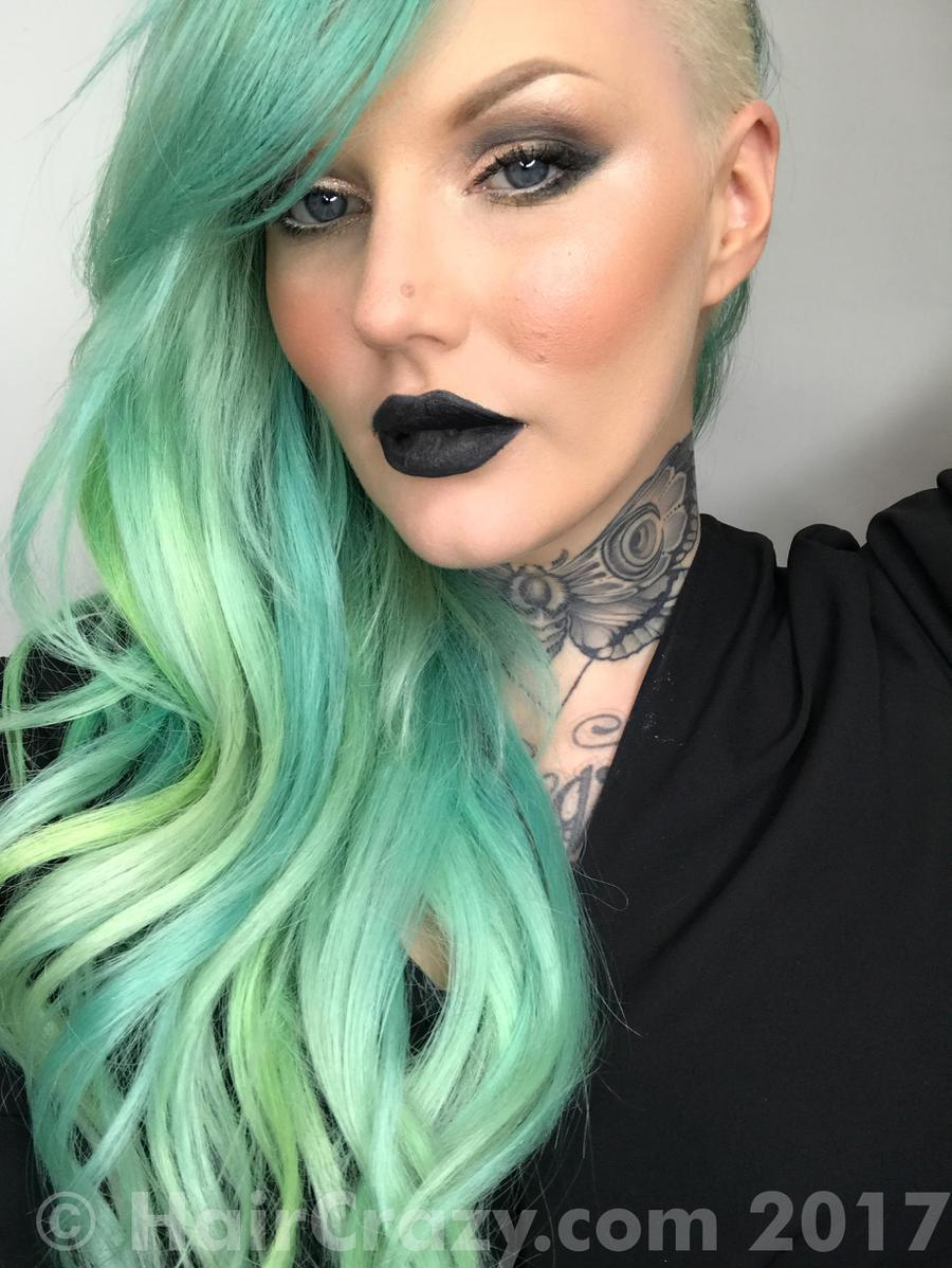 AimeeBlondie -   - Adore Electric Lime   - Pravana Neon Green   - Pravana Neon Yellow