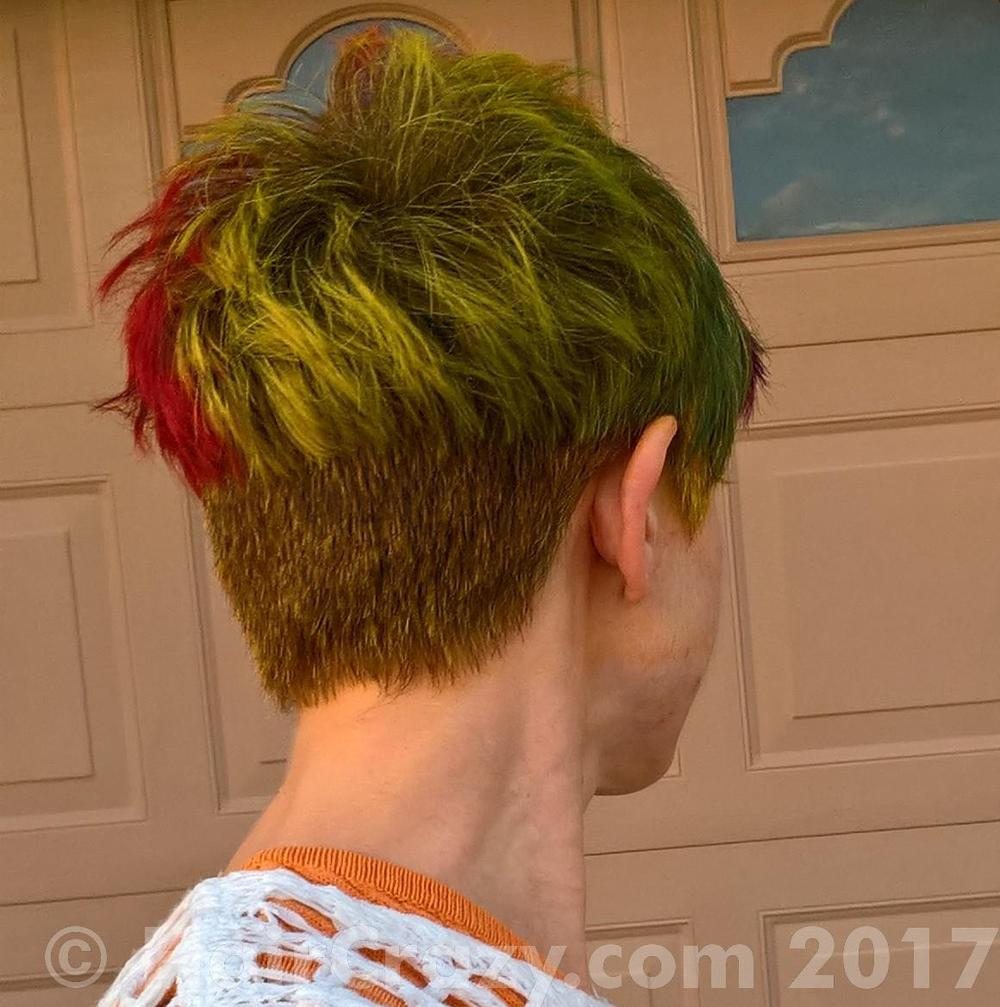 NLeigh -   - Adore French Cognac   - Brite Yellow   - Directions Alpine Green   - Flame